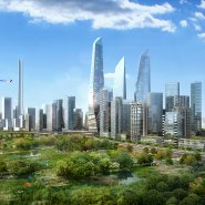 Wuhan bridgehead cbd waterfront