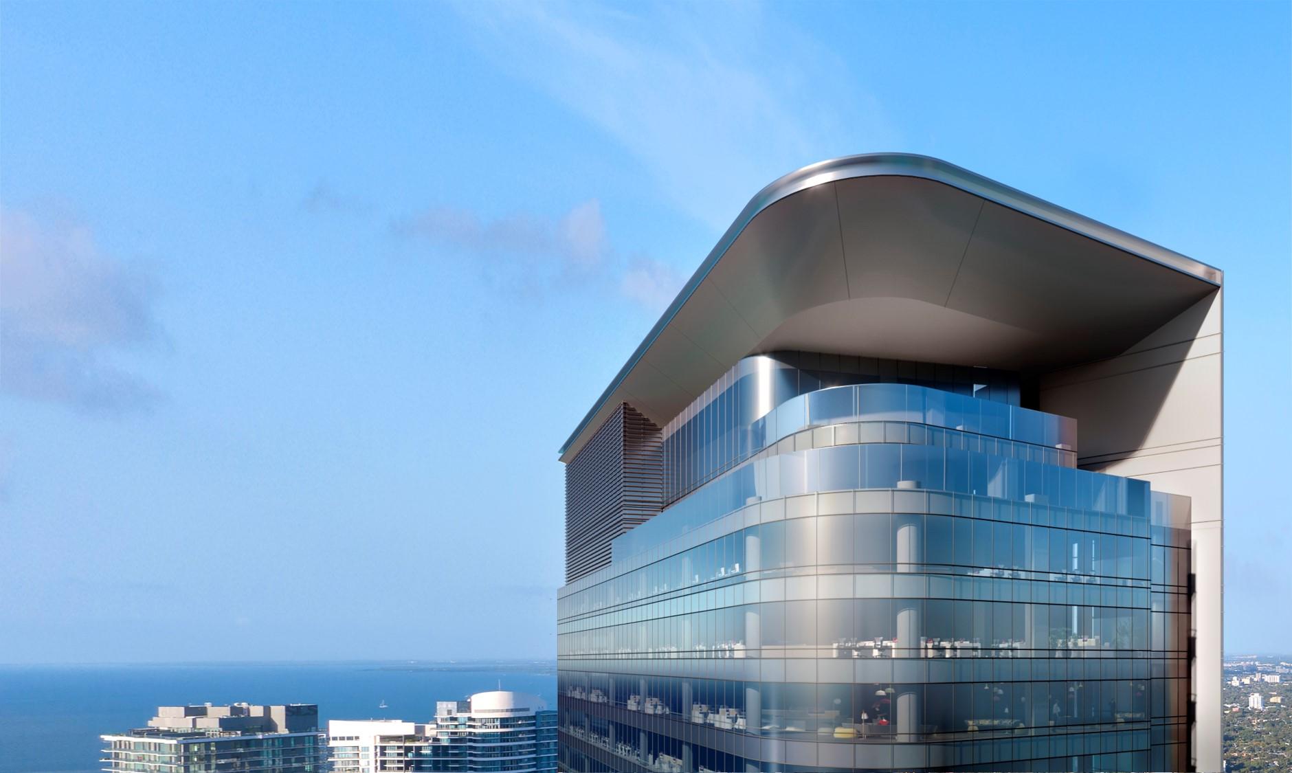 830 brickell rooftop view rendering