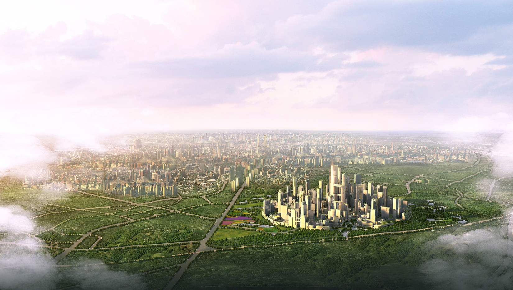 Tianfu Ecological City aerial
