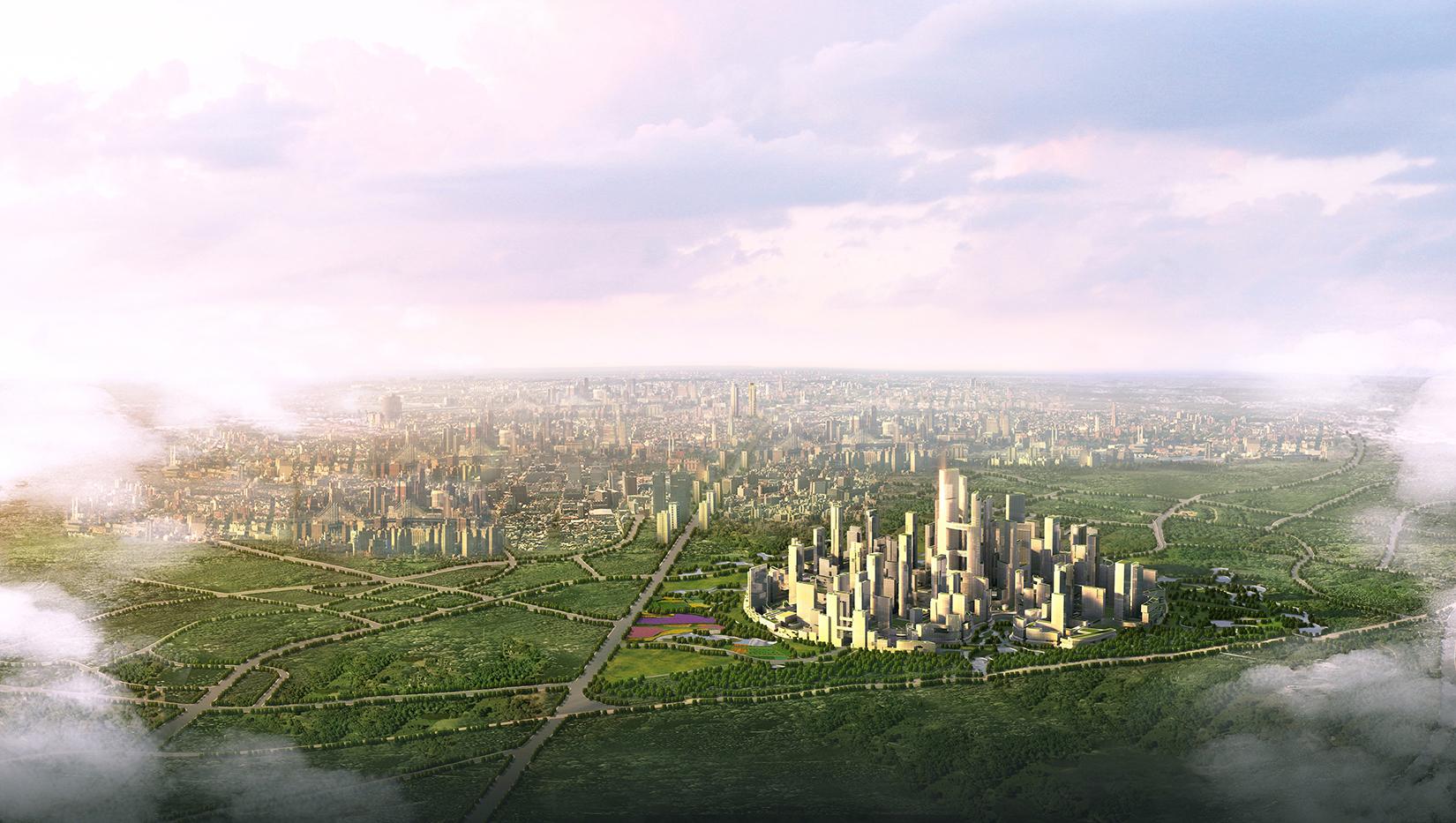 Tianfu Ecological City aerial
