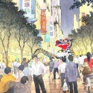 Tianfu Ecological City streetscape sketch